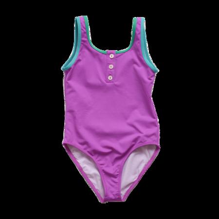 Kids Pacific Rainbow Charlotte Swimsuit - Fuchsia