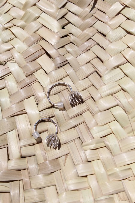 Andrea Vaggione Mini Fritillaria Earrings - Sterling Silver
