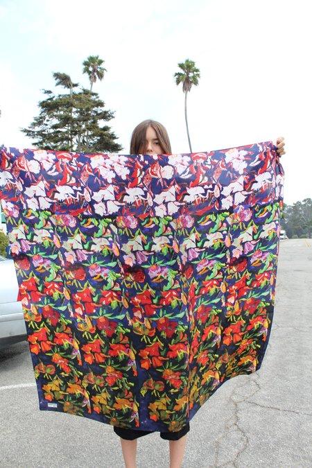 Anntian Silk Scarf Floral Print E