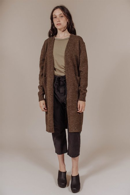 Achro Long Cardigan in Olive