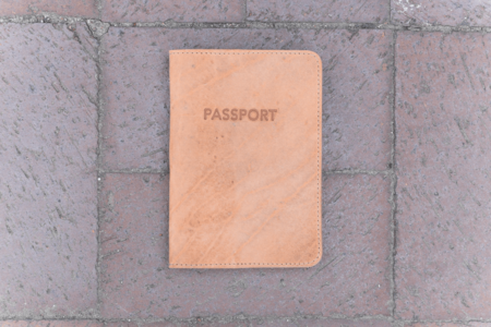 Milworks Natural Leather Passport Cover