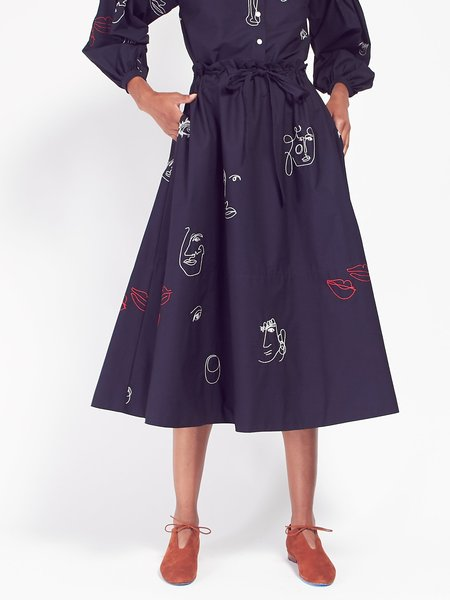 Mr. Larkin Kit Skirt Navy