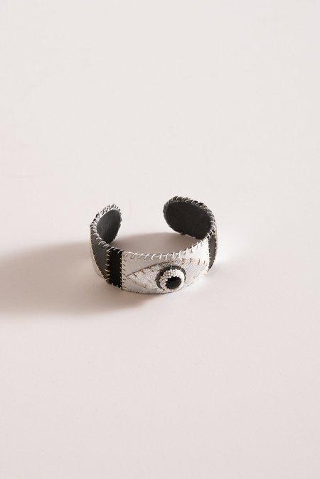 Robin Mollicone Eye Cuff in Onyx/Black/White