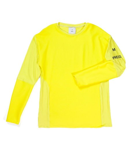 M Press Ribbed Panel Long Sleeve Top - Solid Yellow