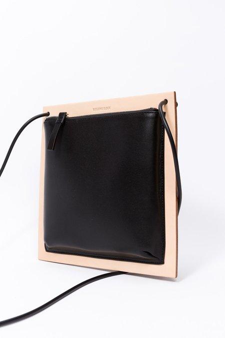 Building Block Frame Bag in Black and Tan