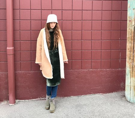 Priory Ura Coat Shearling - Tan