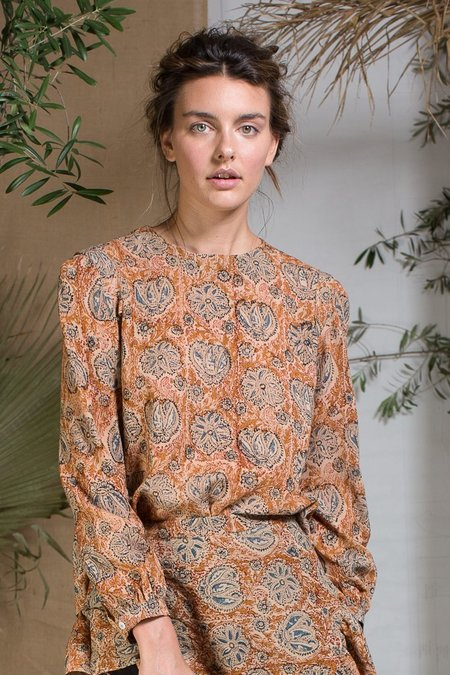 Heidi Merrick Toile Top - Autumn Paisley