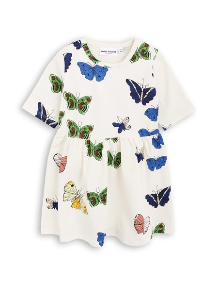 Kid's Mini Rodini Butterflies Dress - Off White