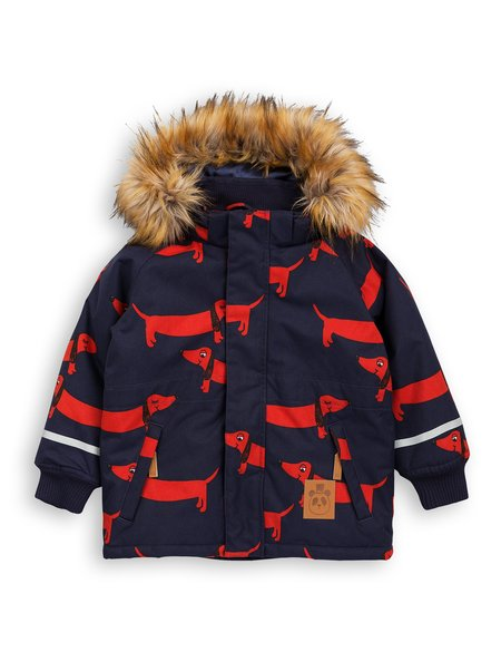 Kid's Mini Rodini Dog Parka - Navy
