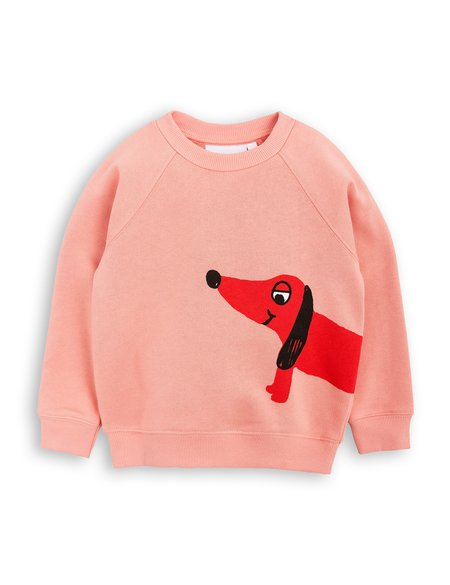 Kid's Mini Rodini Dog Sweatshirt - Pink