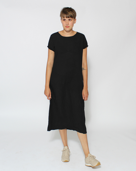 Uzi NYC Tee Dress in Black