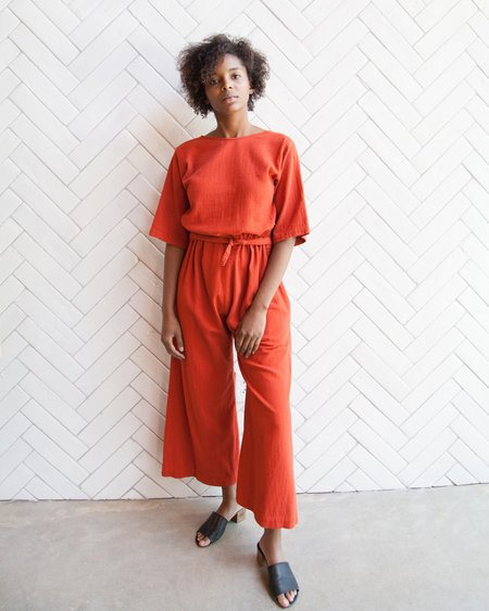 Esby Duffy Crop Jumper - Tomato