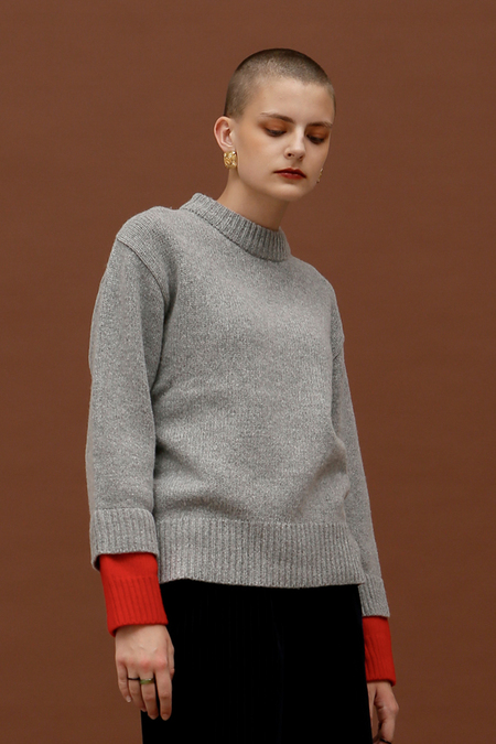 ROC. Two Sleeve Wool Knit