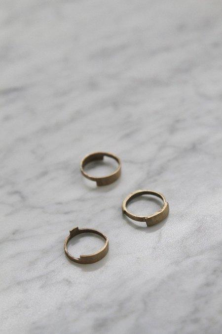 WWAKE Rectangular Shields Ring