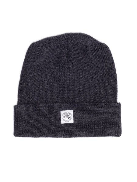 Reigning Champ Knit Merino Wool Toque Charcoal