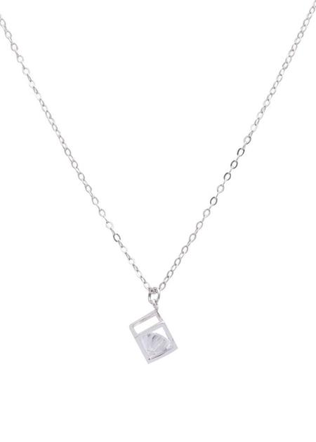 Sarah Mulder Bling Cube Necklace in Silver