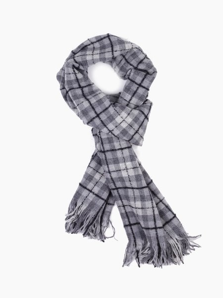 Our Legacy Scarf Boucle Check - Snow/Grey