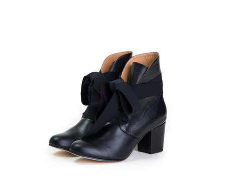 The Palatines satago ribbon boot -  black nappa leather