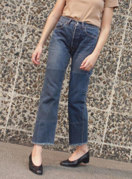 Vintage Association B Sides  Patchwork Jean - Faded Indigo/Violet