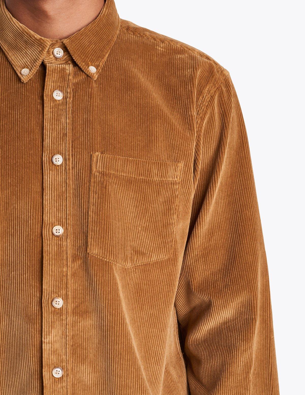 e6bc4faabd Tres Bien Corduroy button down shirt - Beige | Garmentory