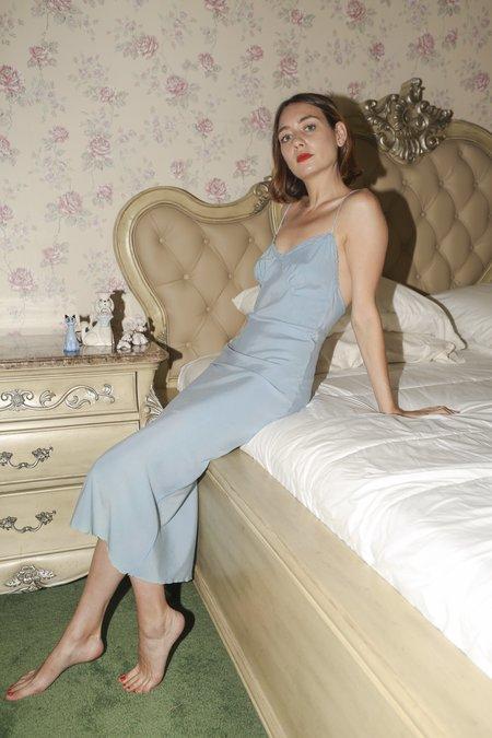 Vivien Ramsay Sly Slip Dress in Sky