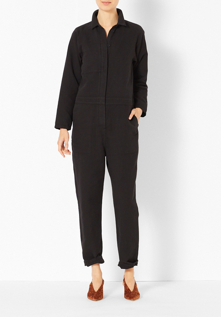 You Must Create Canvas Jumpsuit - Black Washed