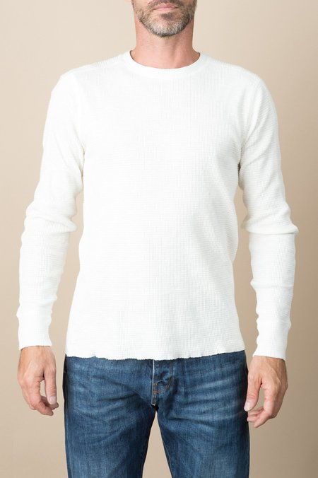 RRL Crewneck Cotton Nov Texture In Paper White