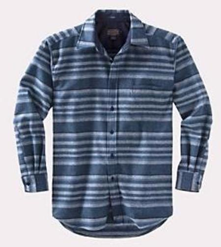 Pendleton - Lodge Shirt - Indigo Stripe