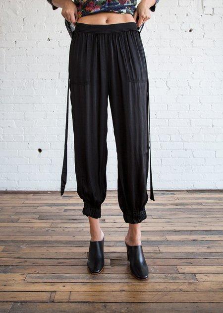 Raquel Allegra Deconstructed Tuxedo Pant Black