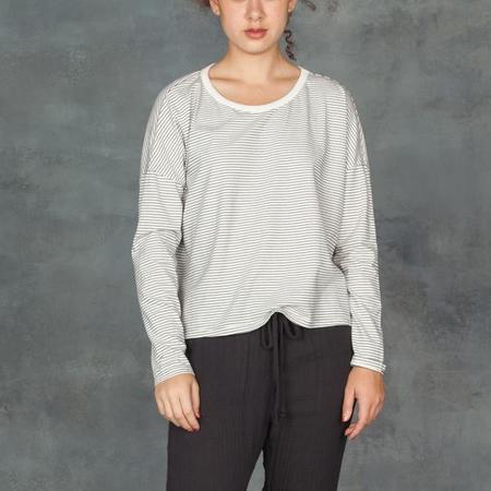 Xirena Farrah Long Sleeve Black and White Stripe Top
