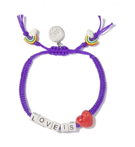Venessa Arizaga Love is Love Friendship Bracelet