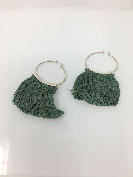 Mini Fringe Hoop - Verde || Erin Considine