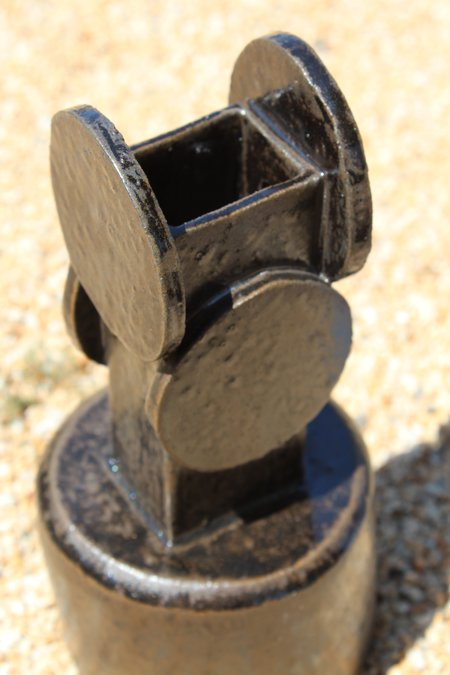 Bari Ziperstein Circle Top Vase - Black