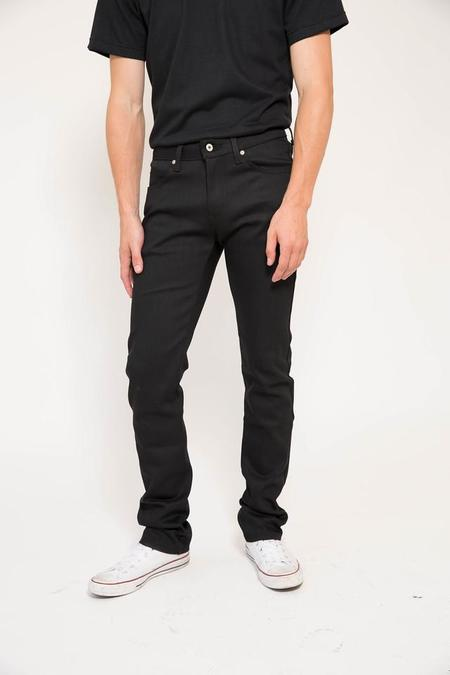 Naked and Famous Skinny Guy - Black Power Stretch