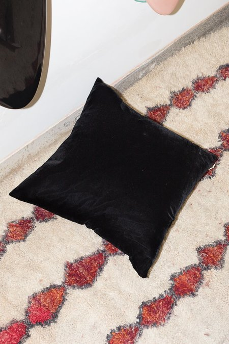 Heidi Merrick Velvet Pillow - Black