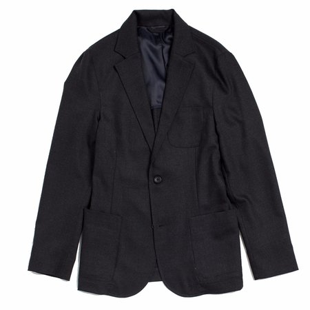 Corridor Charcoal Wool Travel Blazer