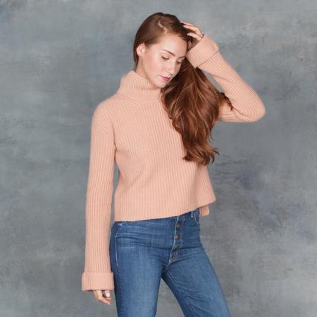 Giada Forte Camel Cropped Cashmere Knit Sweater