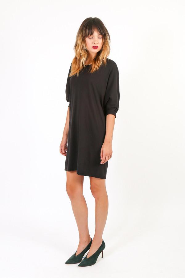 Black Crane Wide Dress