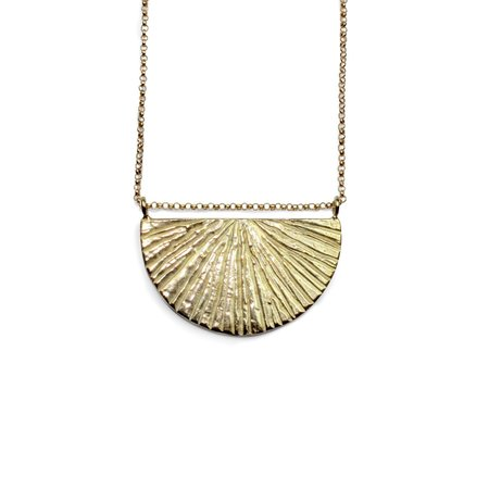 Amanda Hunt Brass Sunrise Necklace