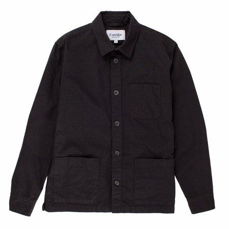 Corridor Overdye Overshirt - Black