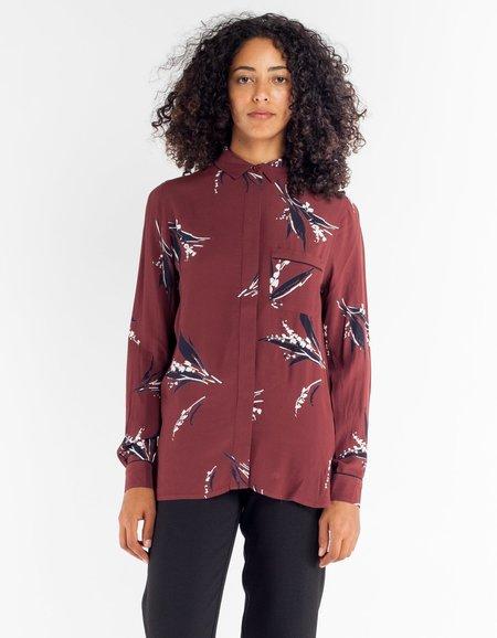 Ganni Montrose Crepe Shirt - Decadent Chocolate