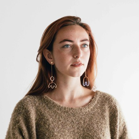WKNDLA Peri Chain Earrings