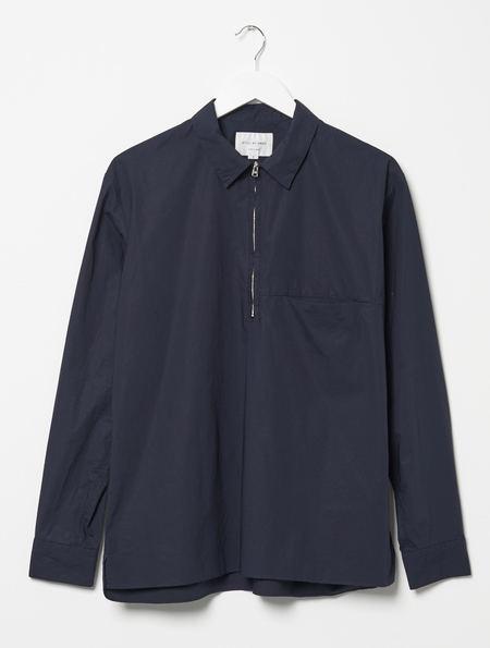 Still By Hand Zip Shirt - Navy