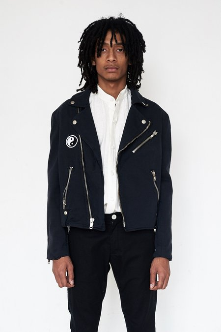 Assembly New York Over-dyed Denim Moto Jacket