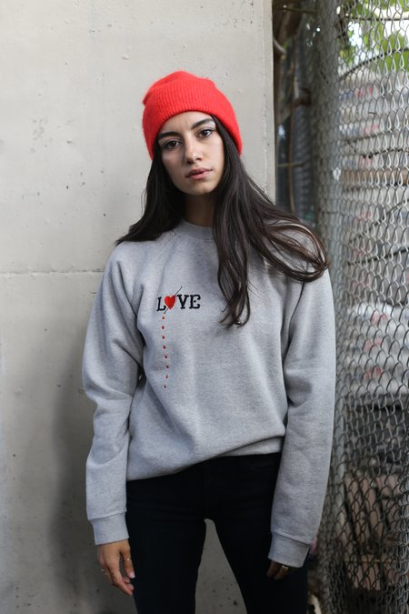 Ganni Lott Isoli Love Sweatshirt