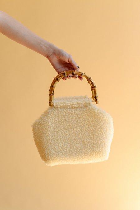 Lykke Wullf  Bamboo Bag - Cream Faux Sherpa