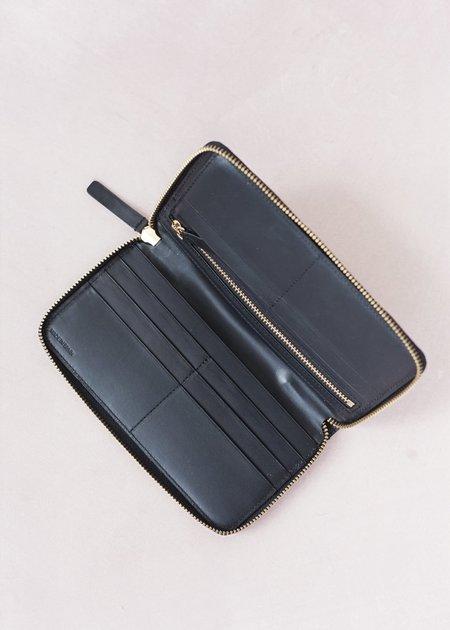 The Stowe Long Zip Wallet - Black