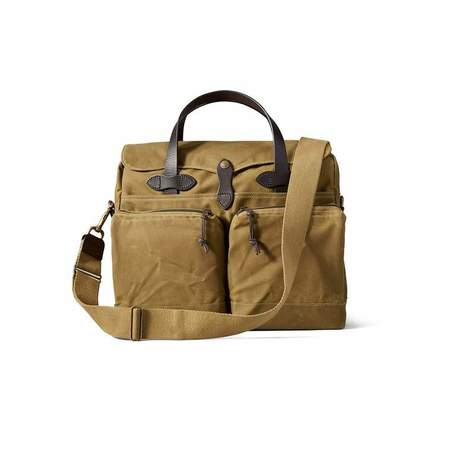 Filson 24-Hour Tin Briefcase - Dark Tan