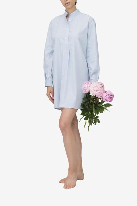 Monika Hibbs x The Sleep Shirt Short Sleep Shirt Tiny Blue Gingham