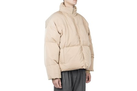 Drôle de Monsieur Patched Down Jacket - Beige